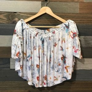 Splendid Off The Shoulder Butterfly Top NWT